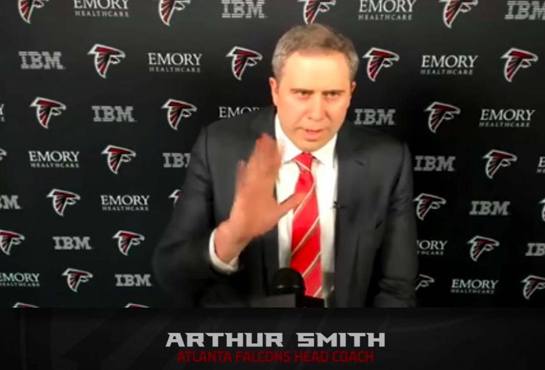 Atlanta Falcons head coach Arthur Smith