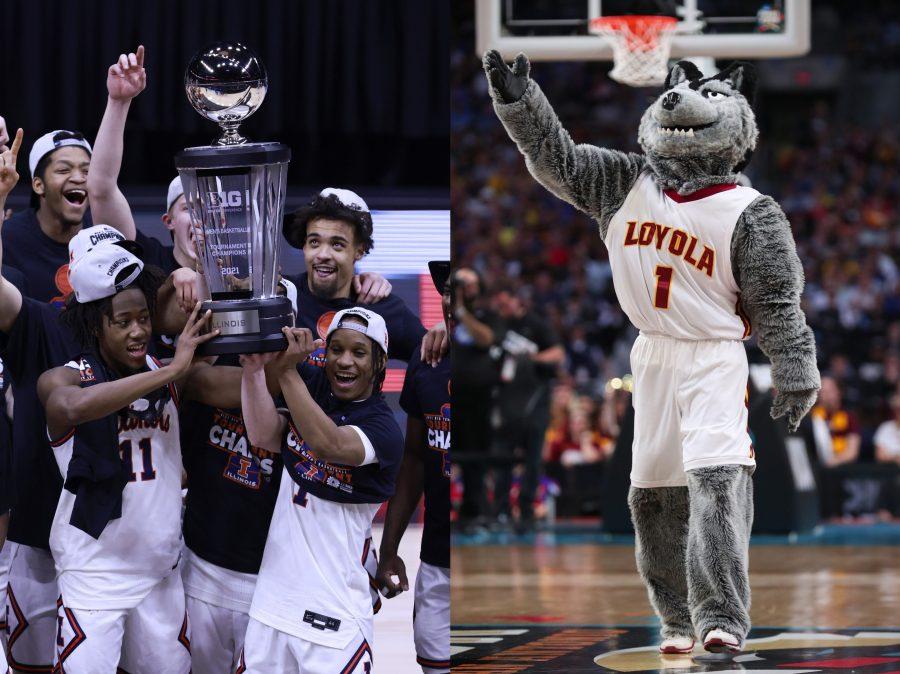illinois basketball team and loyola chicago mascot