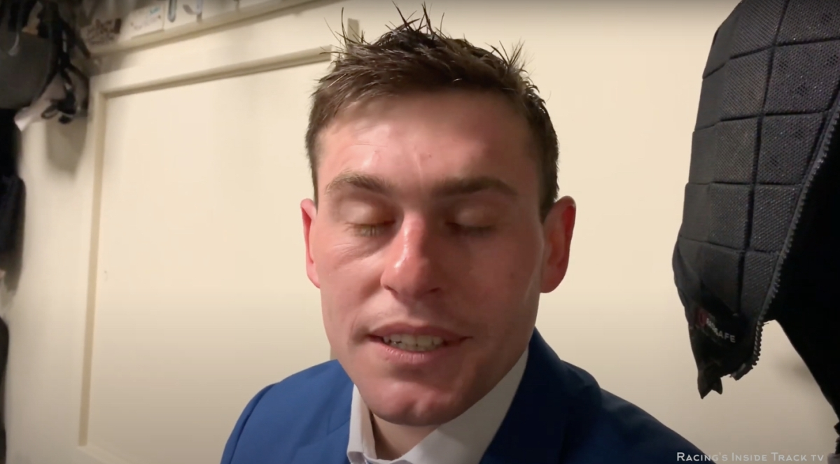 Jockey Rob James in an interview.