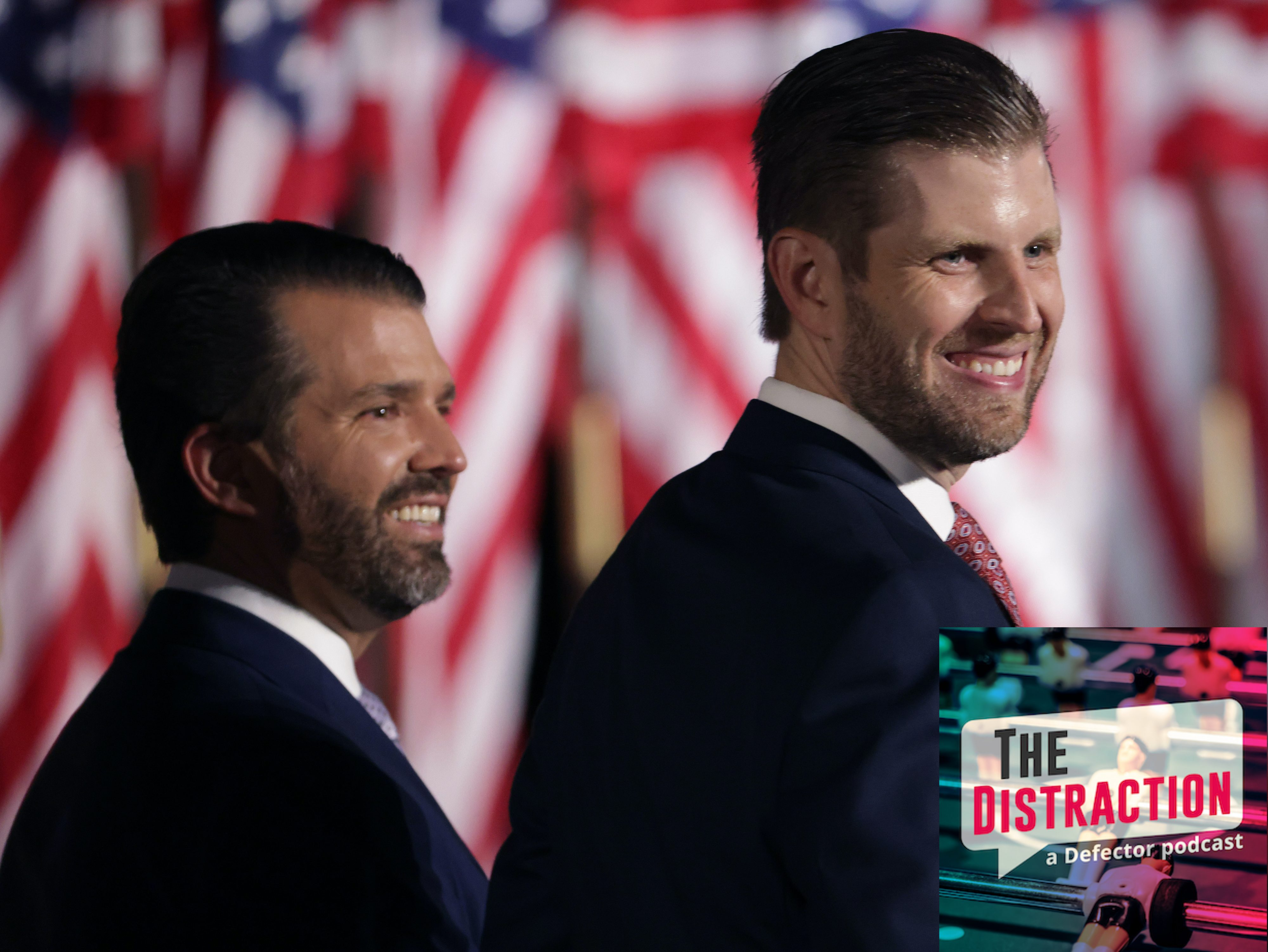 Donald Trump Jr. and Eric Trump at the 2020 GOP Convention, looking great.