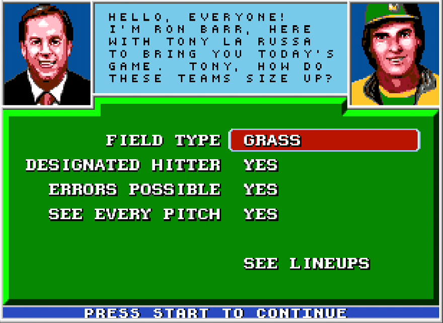 Ron Barr: Hello, everyone! I'm Ron Barr, here with Tony La Russa to bring you today's game. Tony, how do these teams size up?