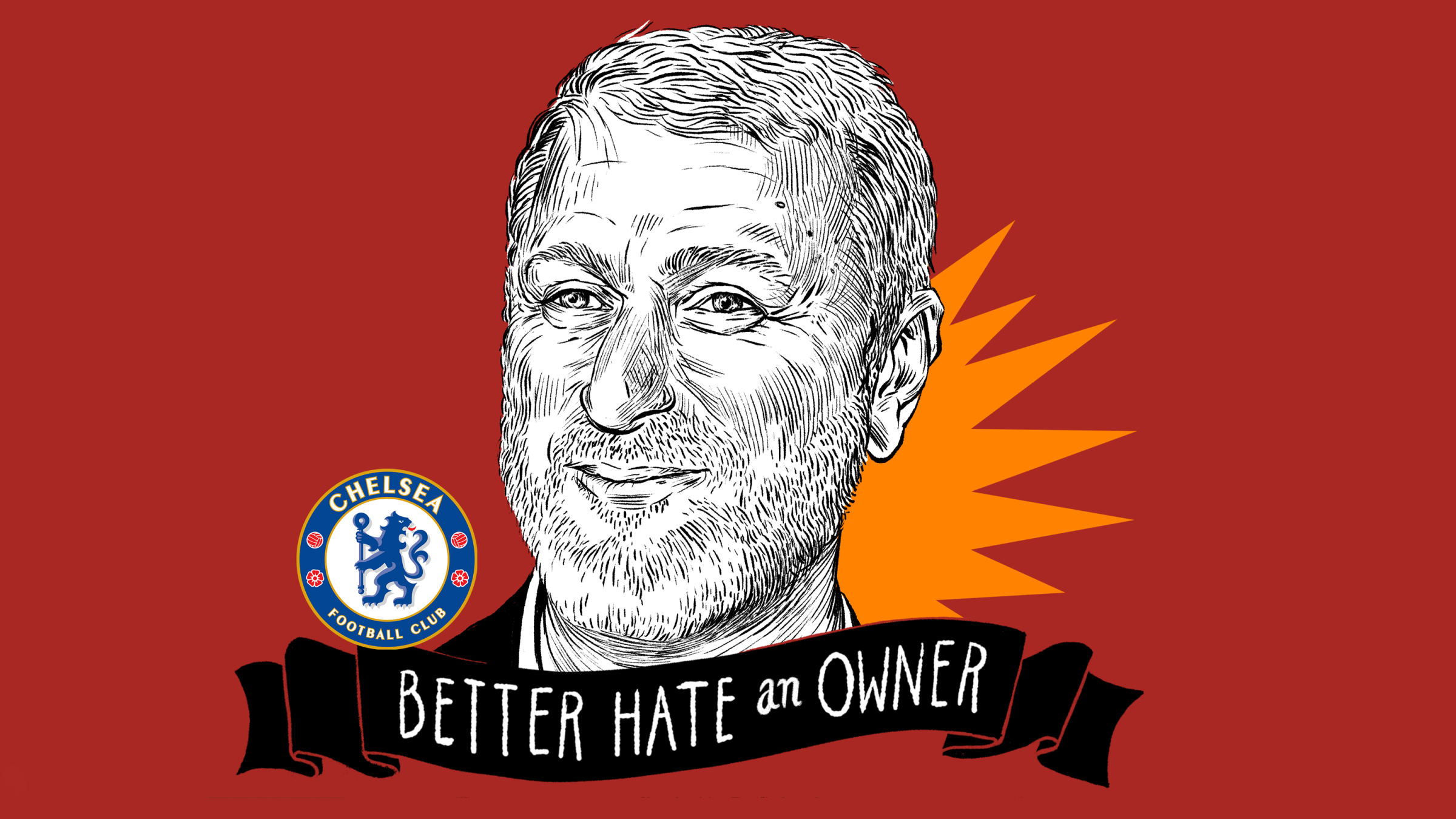 Very cool illustration of Chelsea owner Roman Abramovich.