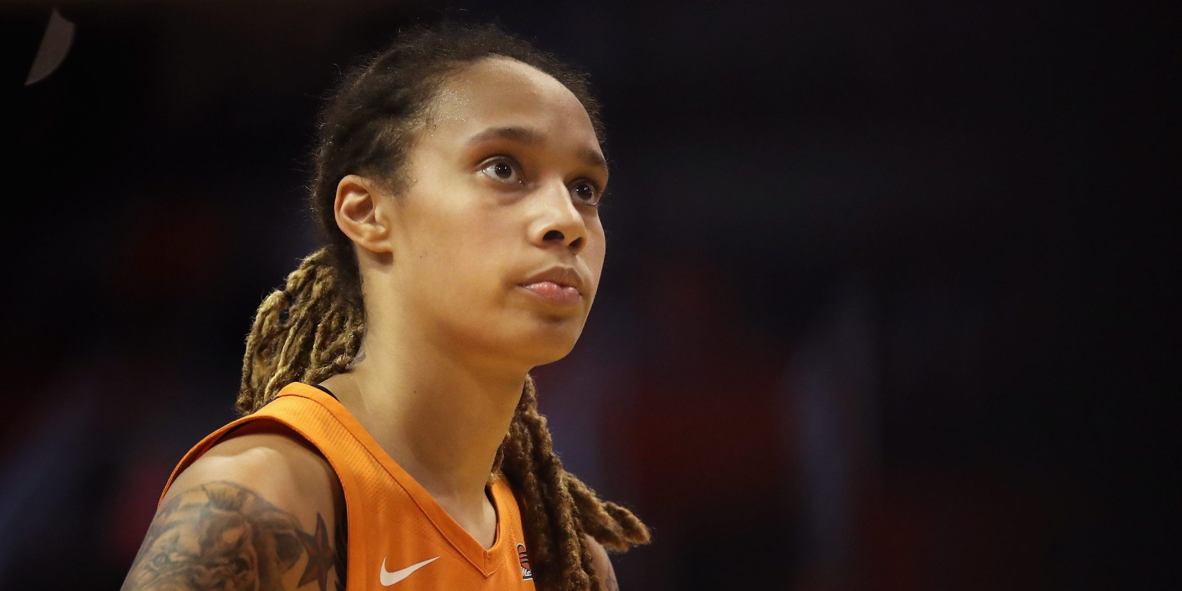 Brittney Griner #42 of the Phoenix Mercury attempts a free-throw shot against the Seattle Storm during game three of the WNBA Western Conference Finals at Talking Stick Resort Arena on August 31, 2018 in Phoenix, Arizona.