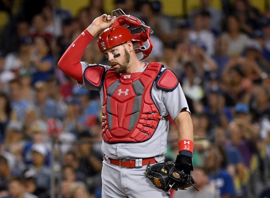 Matt Wieters, seen here catching for the Cardinals in a 2019 game.