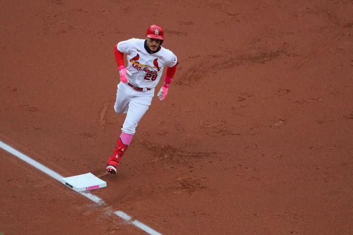 Nolan Arenado rounds third base