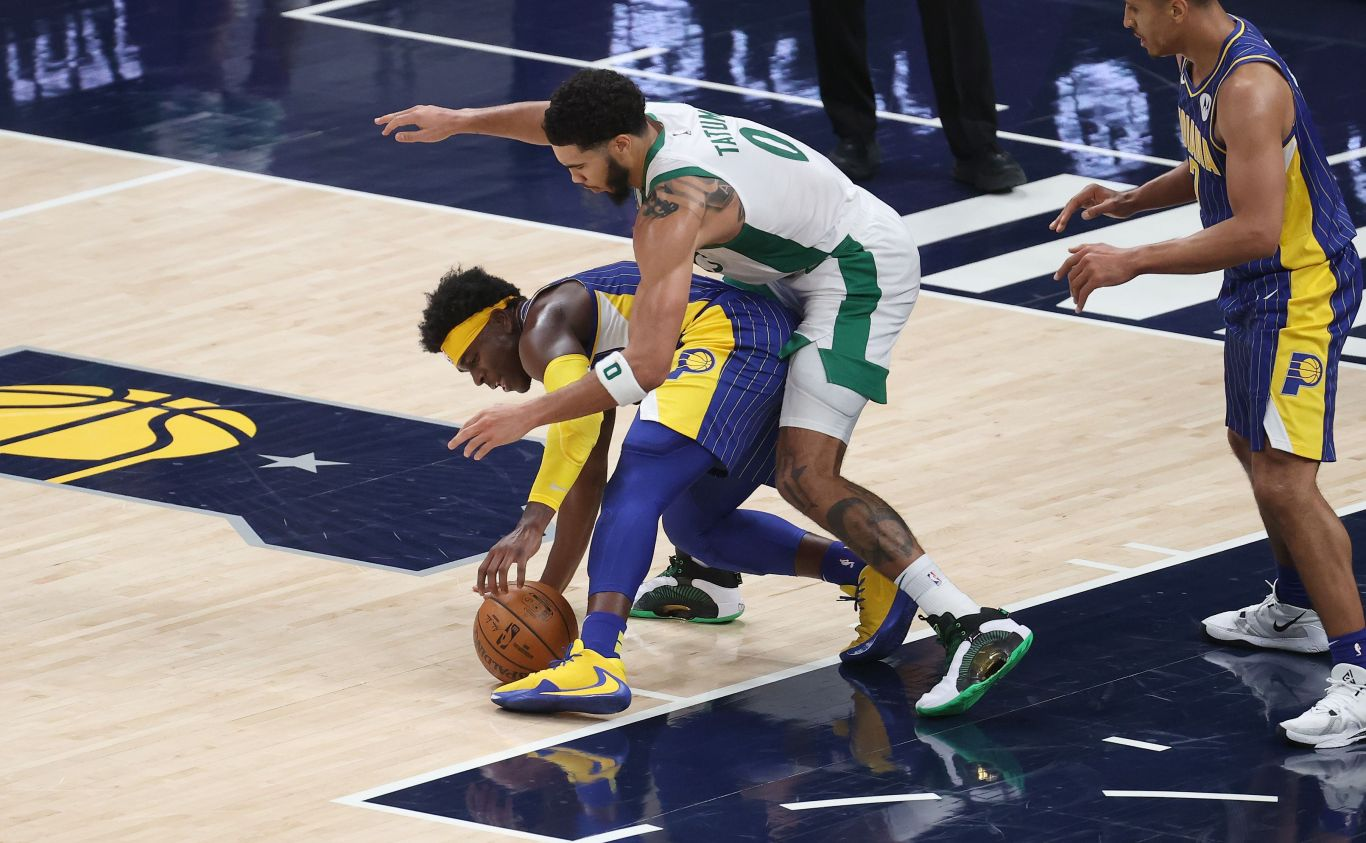 The Celtics and Pacers play basketball, poorly.