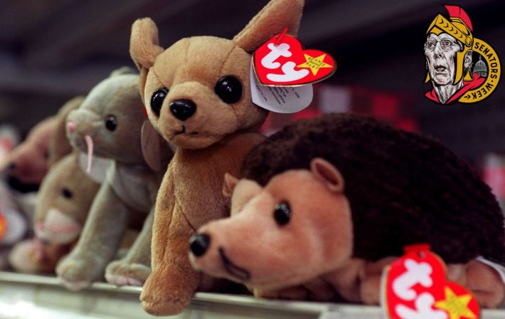 """WASHINGTON, : Beanie Babies sit on the shelf of a variety store waiting for a new owner 01 September 1999 in Washington DC. The maker of Beanie Babies, Ty Inc., announced """"All Beanies will be retired"""" as of 31 December 1999. AFP PHOTO Joyce NALTCHAYAN (Photo credit should read JOYCE NALTCHAYAN/AFP via Getty Images)"""