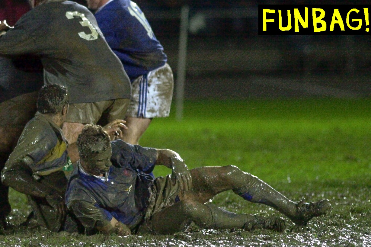 NEW ZEALAND - SEPTEMBER 09: Nelson Bays Brett Wallace extracts himself from the mud in his teams 2026 loss to Bay of Plenty in the Air New Zealand NPC second division match at Trafalgar Park, Nelson, Saturday. (Photo by Ross Land/Getty Images)