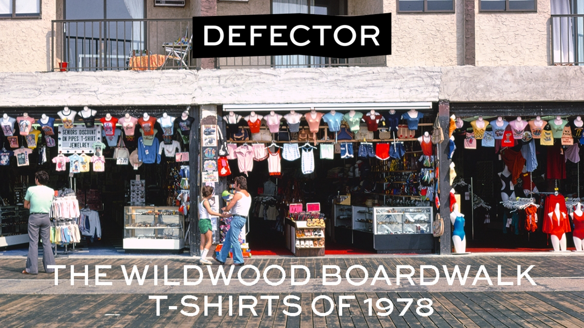 The Wildwood Boardwalk T-Shirts of 1978. A boardwalk scene from the 70s.