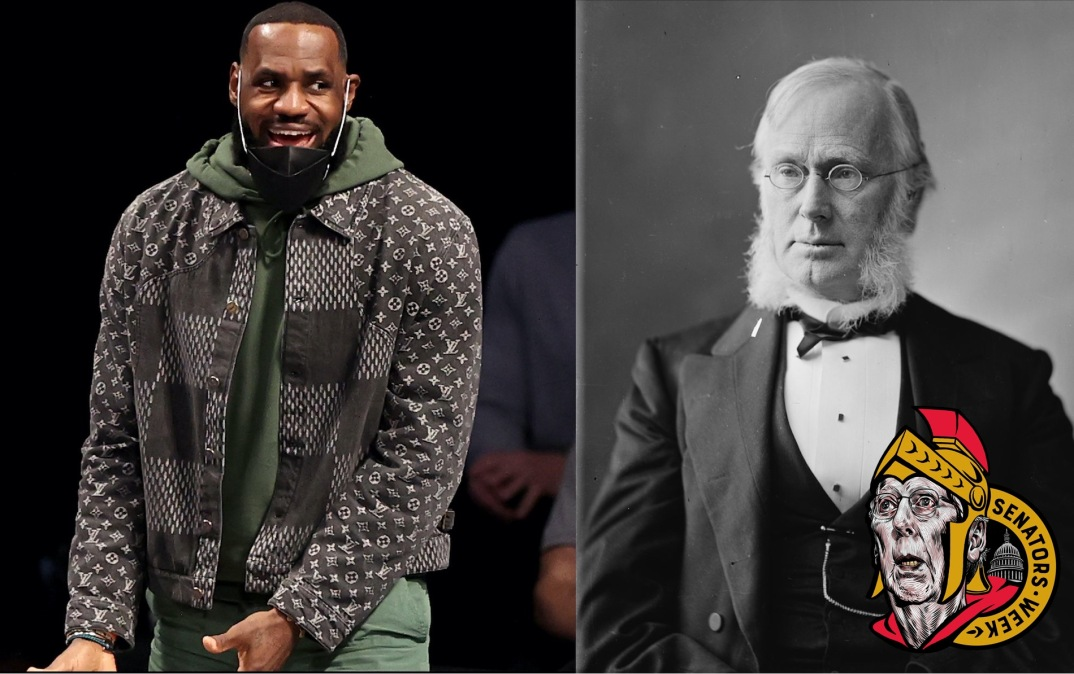 LeBron James and George Frisbie Hoar