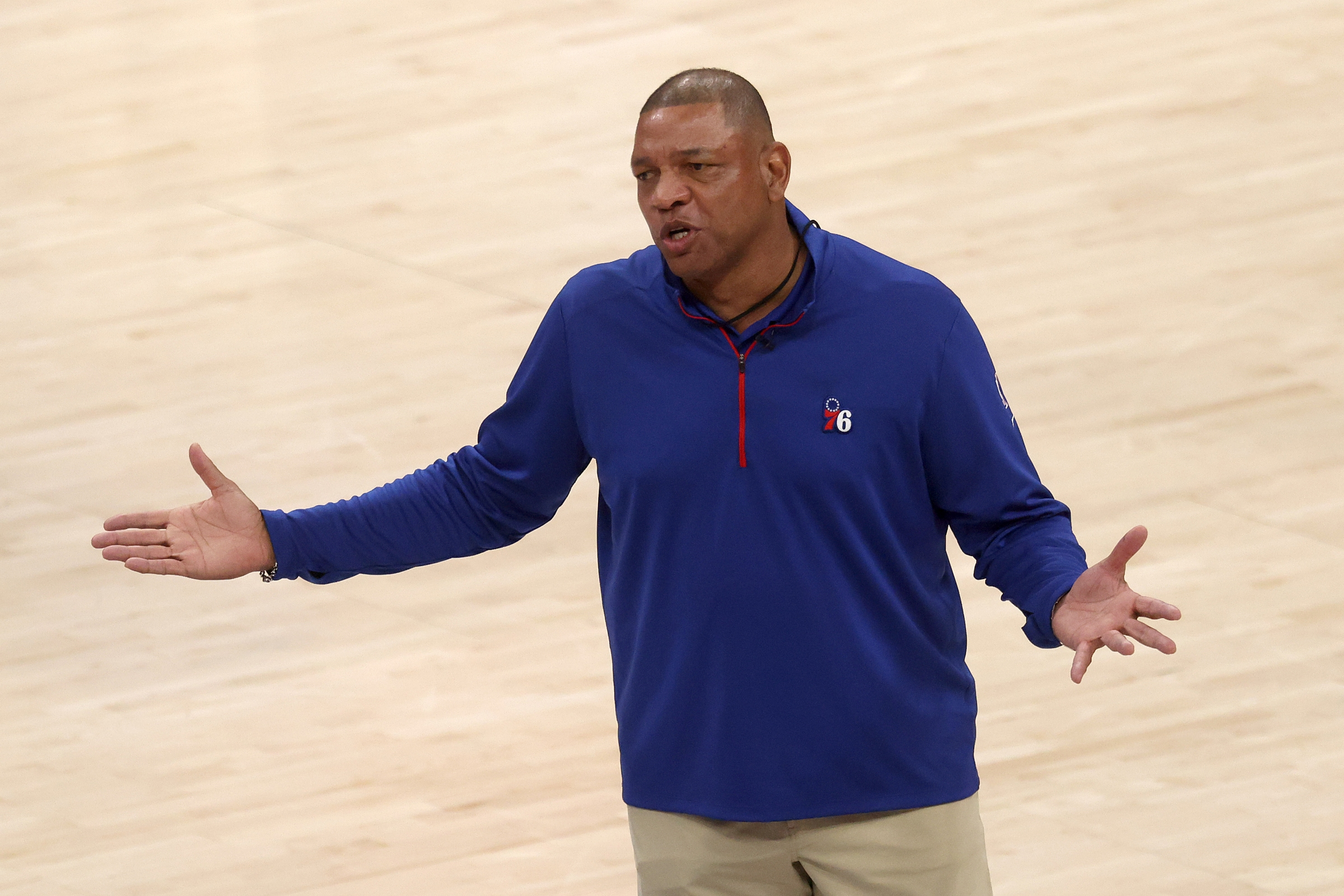 Doc Rivers looks defeated.