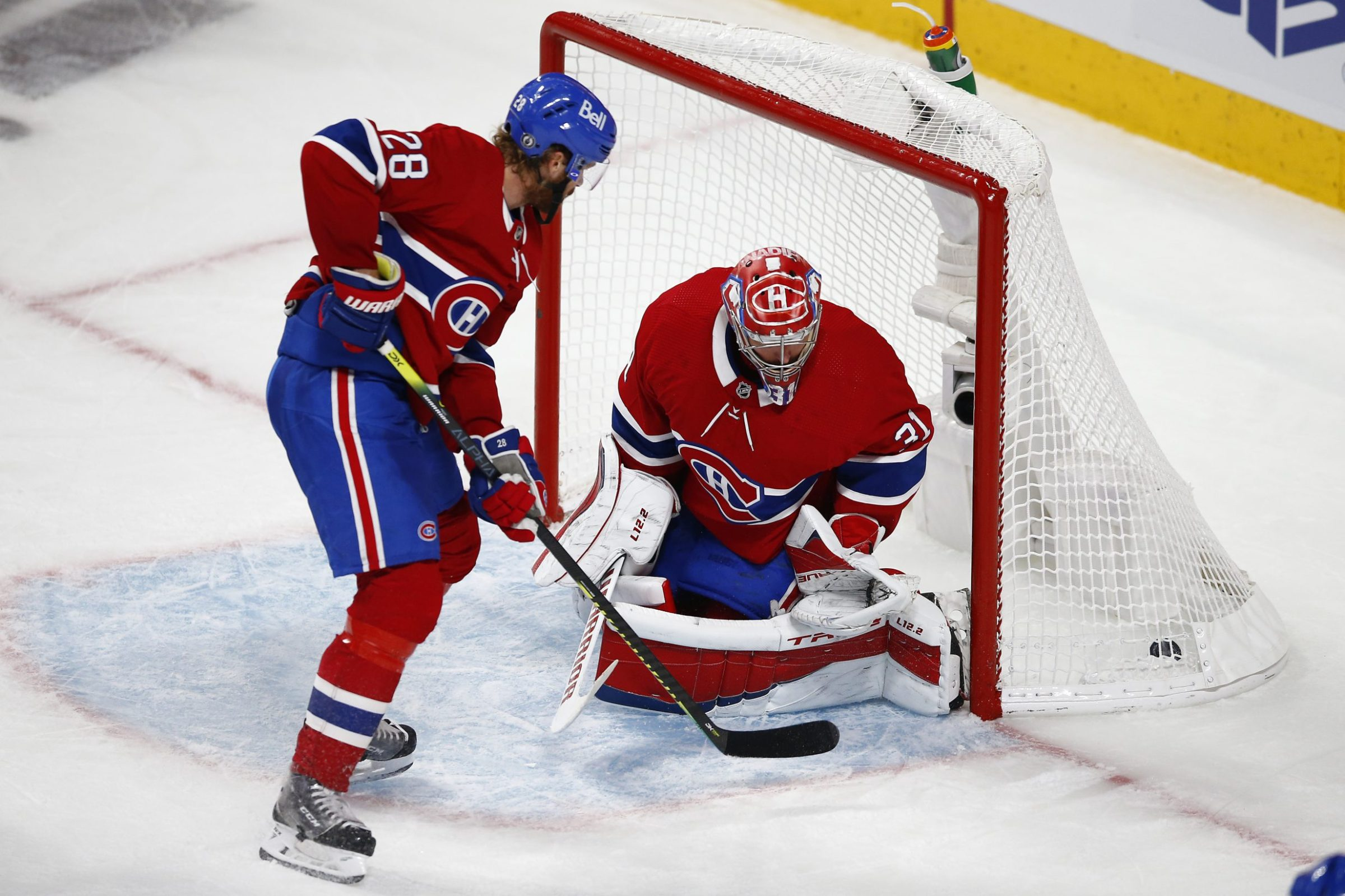Carey Price reacts after allowing a goal