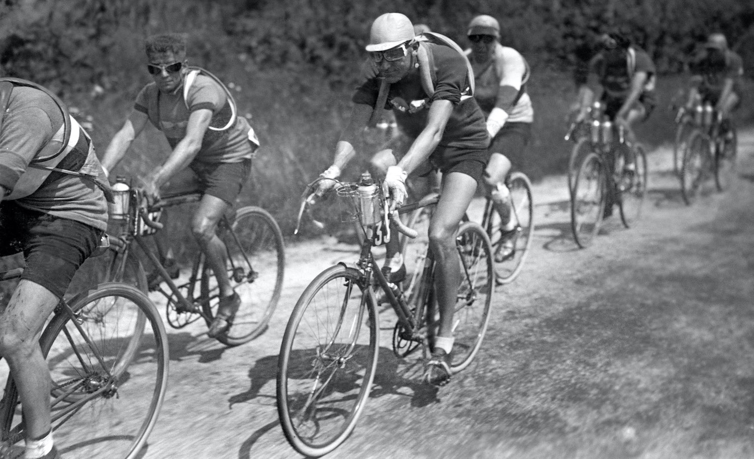 French racing cyclist Charles Pelissier rides during the 2nd stage Caen-Dinan of the 24th Tour de France, on July 3, 1930. (Photo credit should read -/AFP via Getty Images)