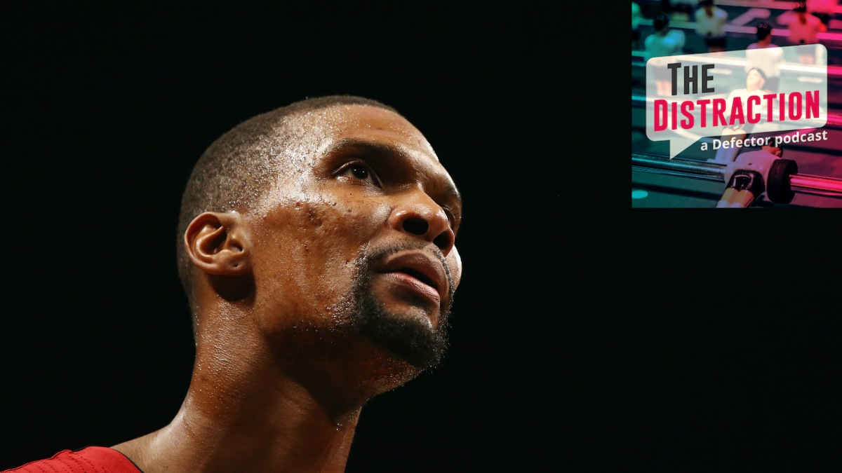 Author Chris Bosh, seen here during his playing days.