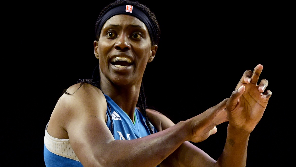 Center Sylvia Fowles #34 of the Minnesota Lynx reacts to a call against the Los Angeles Sparks in game three of the 2016 WNBA Finals at Galen Center on October 14, 2016 in Los Angeles, California.