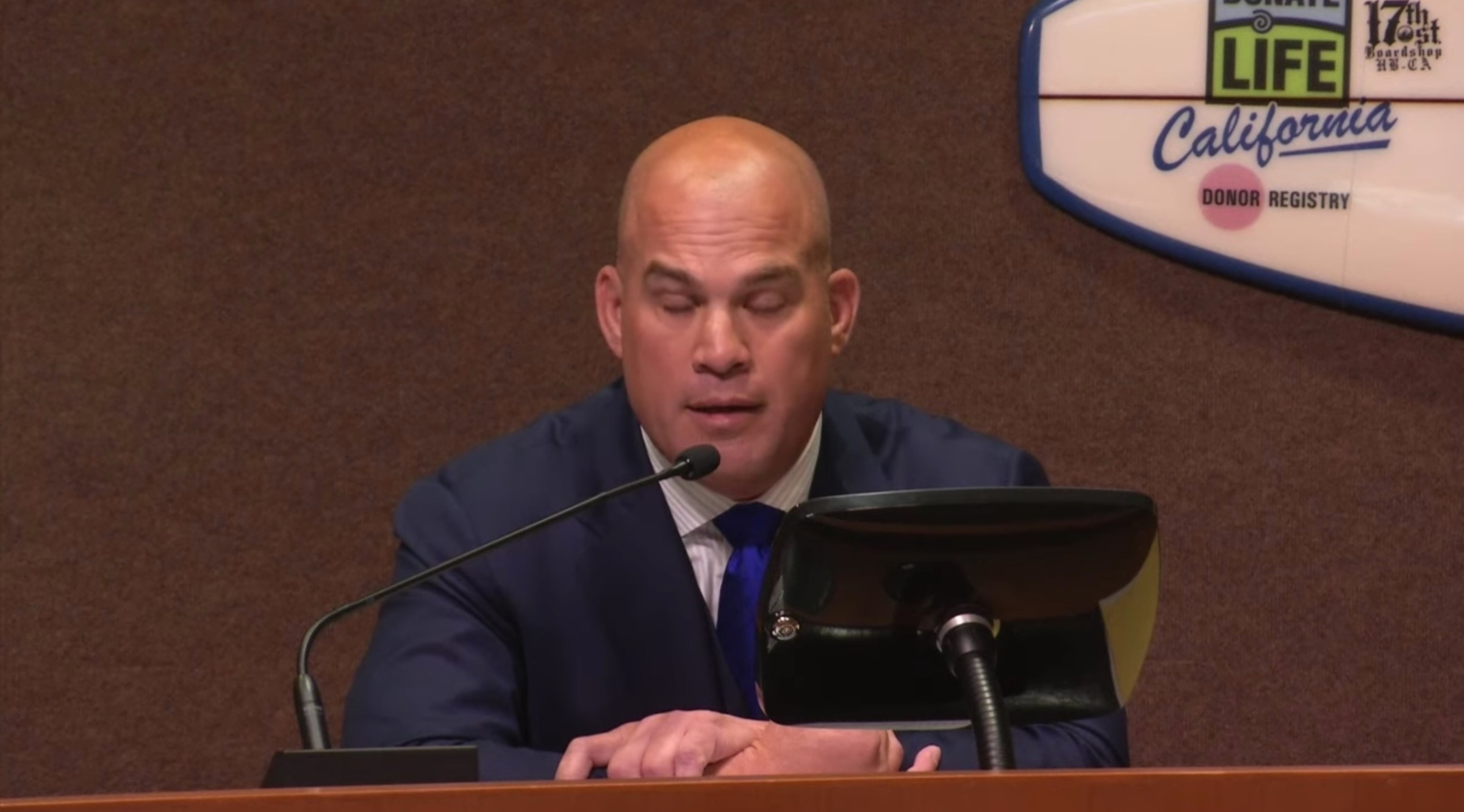 Tito makes his farewell address.