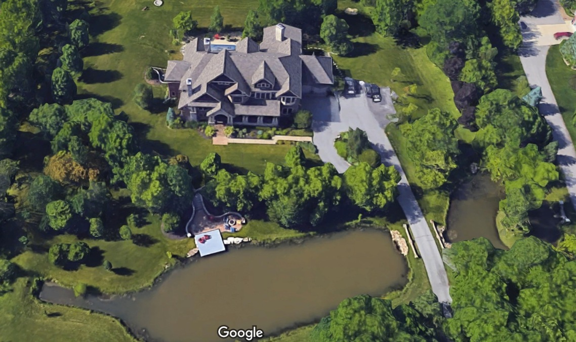 Mike Pence's new house as rendered by Google Maps' 3D imaging.
