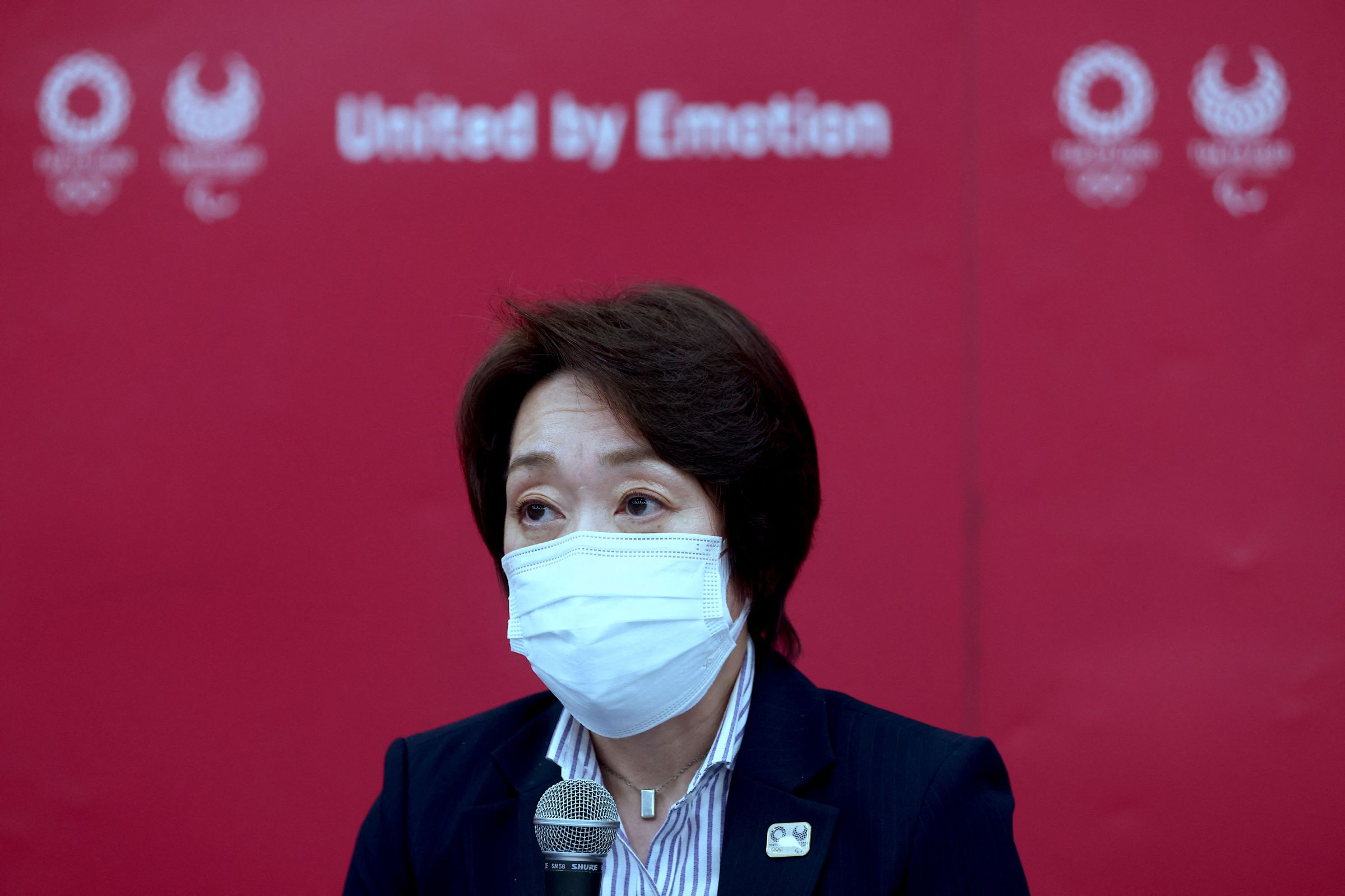 Tokyo 2020 Olympics Organising Committee president Seiko Hashimoto speaks during a press conference in Tokyo on July 8, 2021.