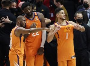 Chris Paul, Deandre Ayton, Devin Booker (Phoenix Suns)