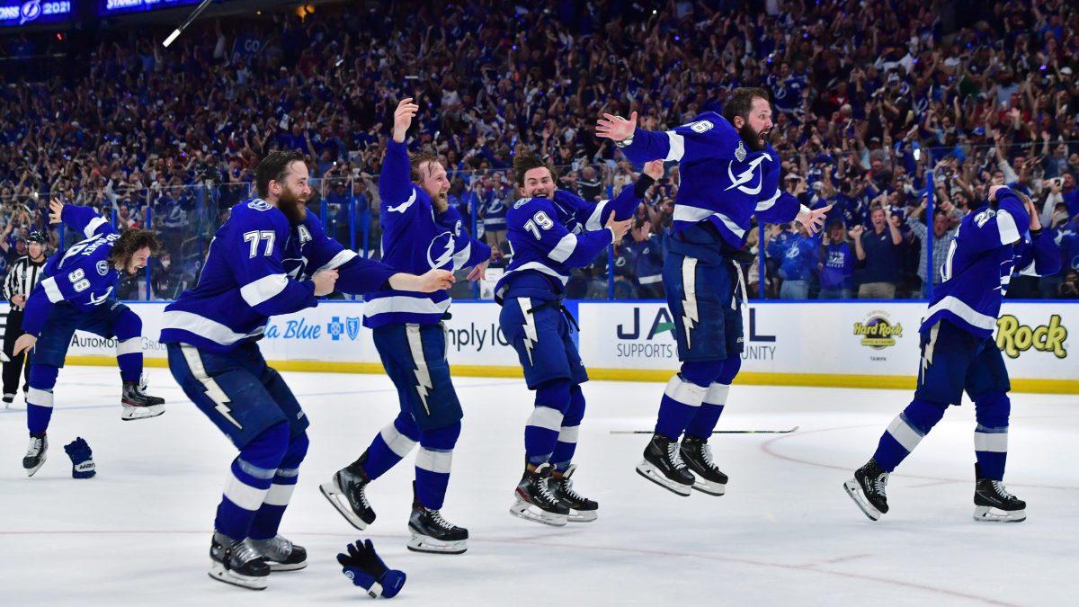 The Tampa Bay Lightning celebrate