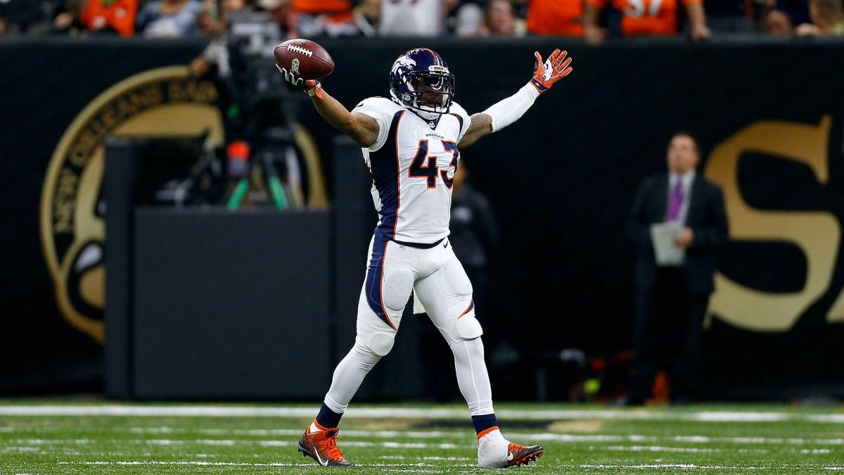 TJ Ward of the Denver Broncos during a game.
