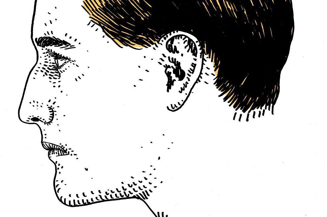 Adam Villacin's illustration of German tennis star Gottfried von Cramm