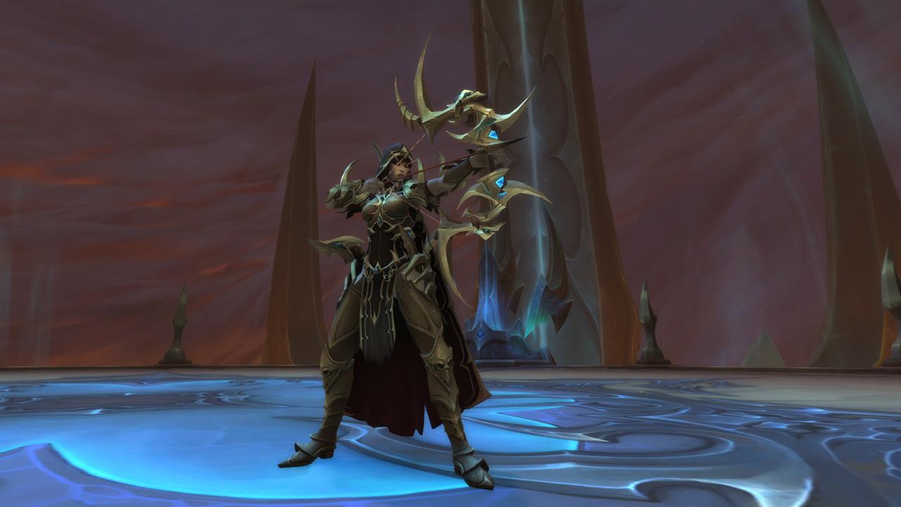 Sylvanas Windrunner in the World of Warcraft raid Sanctum of Domination