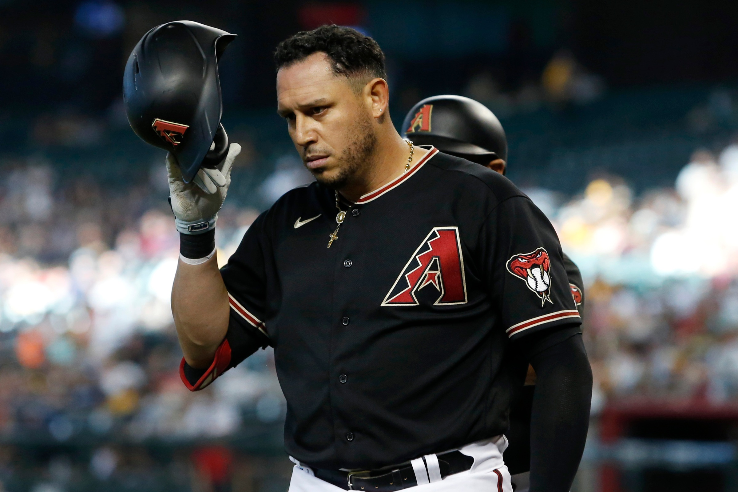 Asdrubal Cabrera, perennial trade deadline mover, seen here with the Diamondbacks. (He's with the Reds now.)