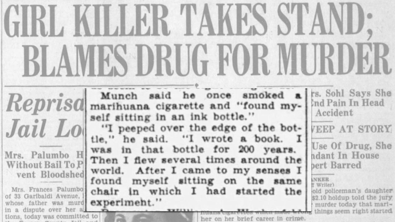 Old headlines about how Marijuana led to killings