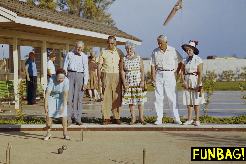 Senior people playing leisure game