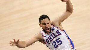 Ben Simmons, Philadelphia 76ers, flails weirdly