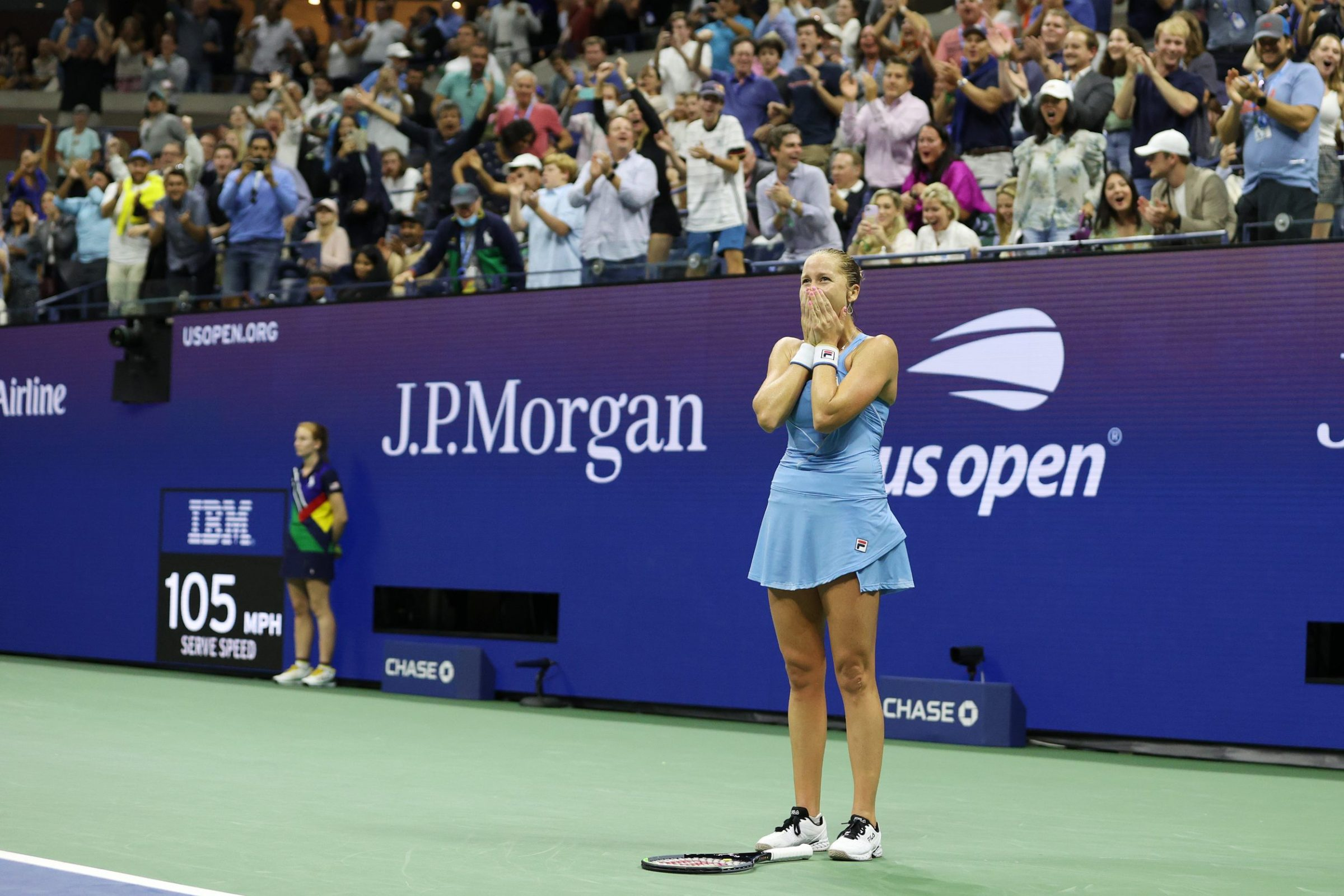 Shelby Rogers hears it from the home crowd after upsetting top-seeded Ash Barty.