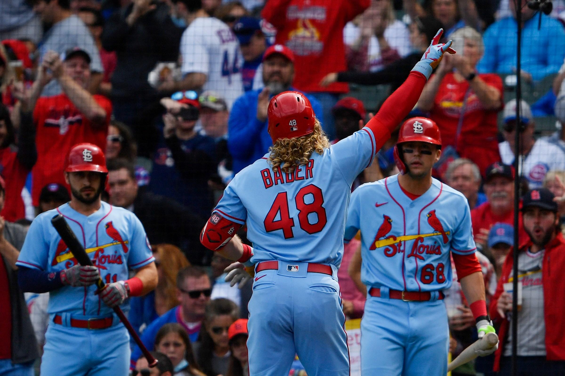 The Cardinals do some celebrating.