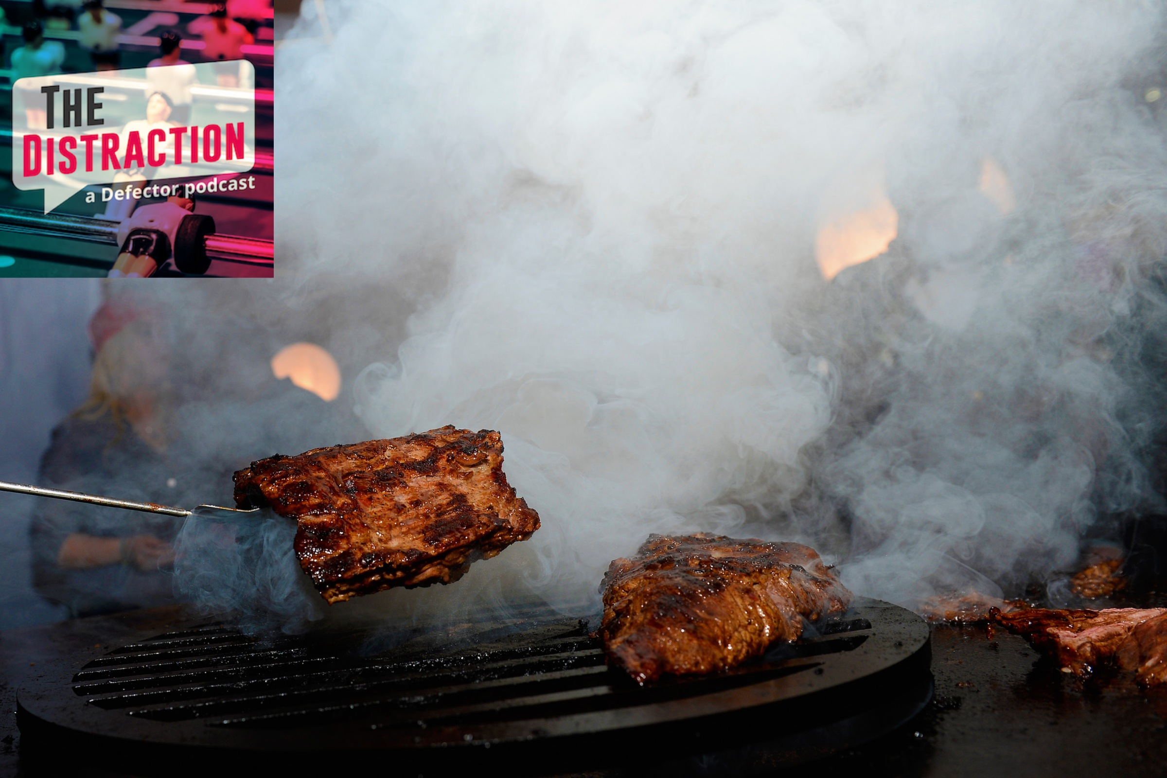 Steaks on a grill at the Las Vegas Food And Wine Festival, in the before times.