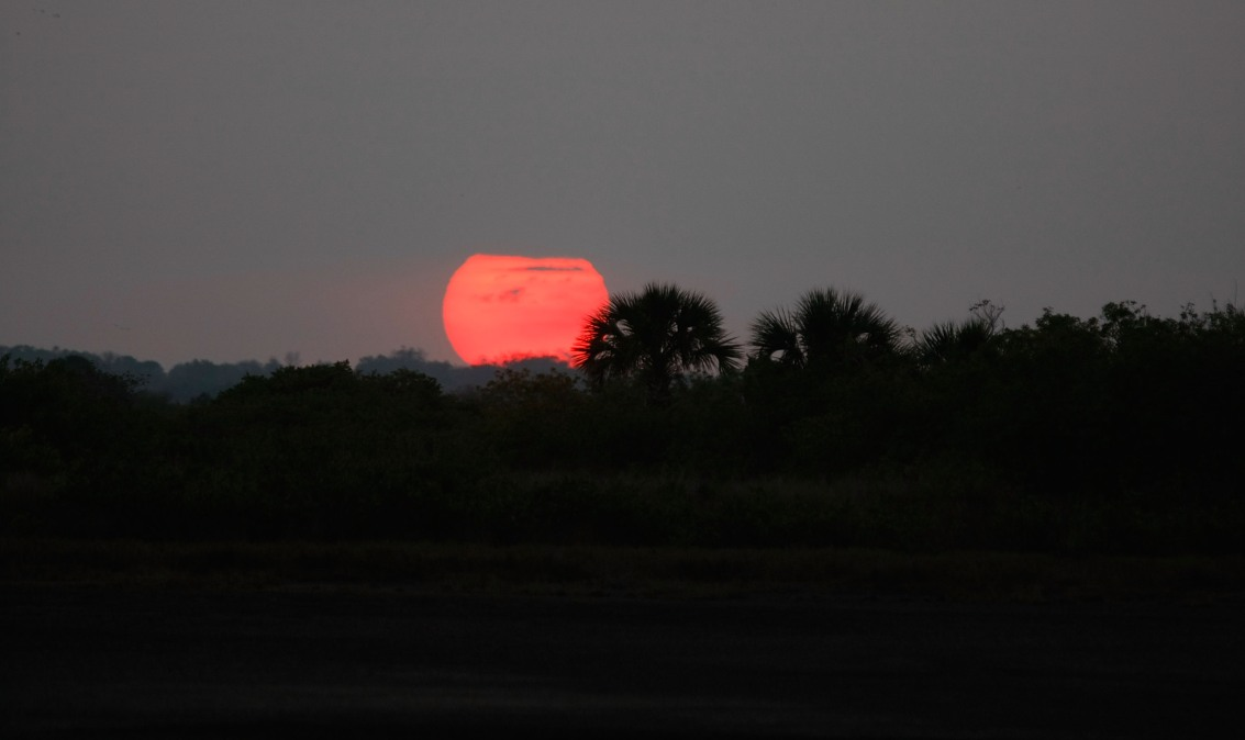 The sun sets in Florida.