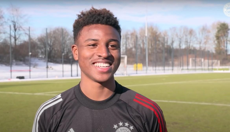 Dane Sealy while training with Bayern Munich last year.