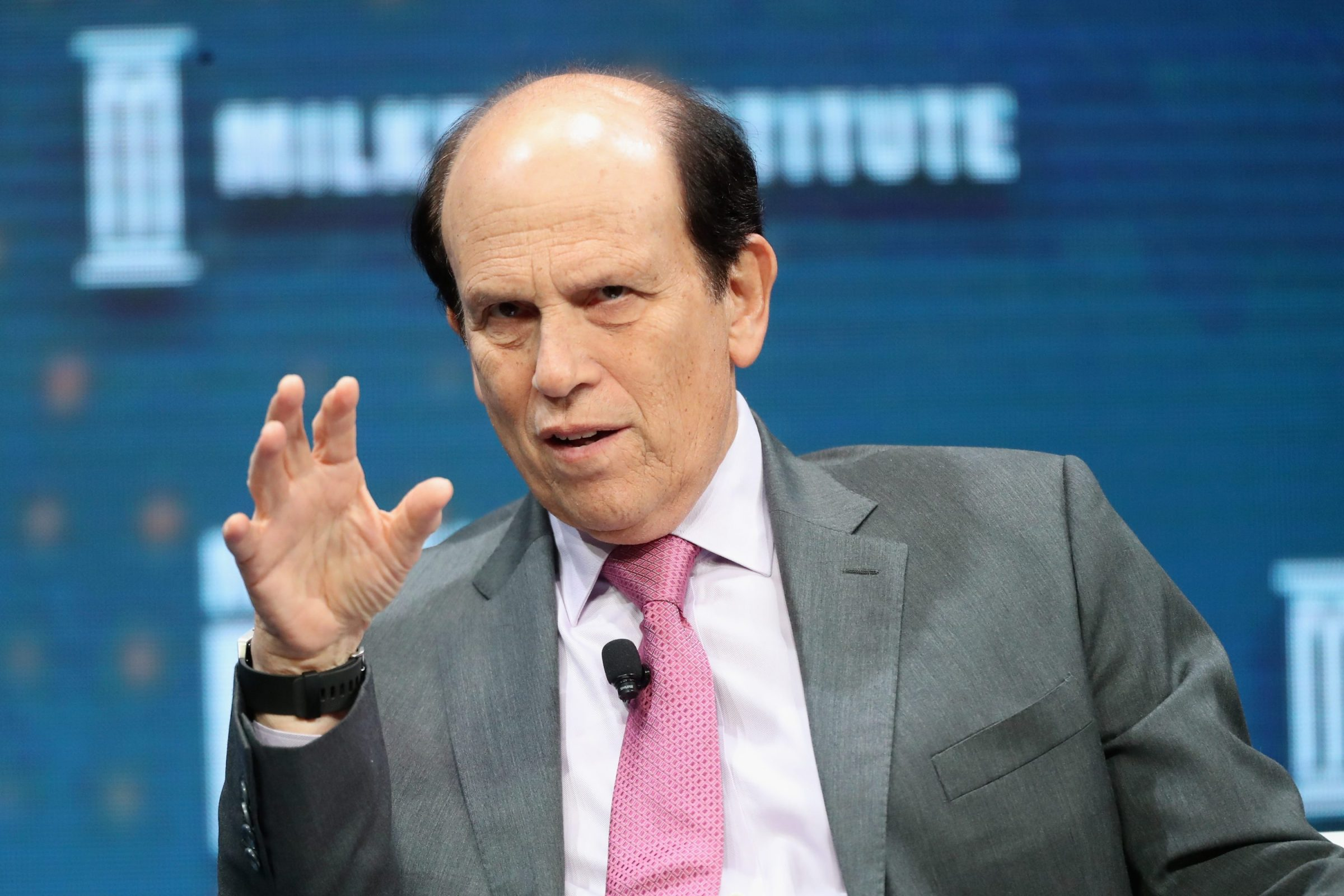 Investor Michael Milken at his own institute's annual event in 2017, back when he was still a convicted financial criminal.