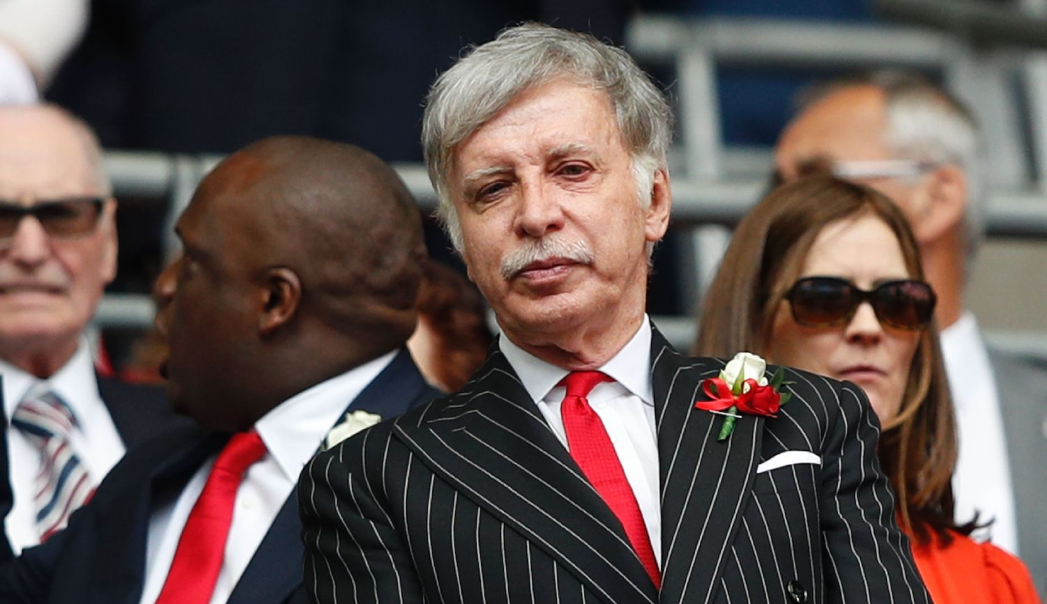 Arsenal's US owner Stan Kroenke waits for kick off in the English FA Cup final football match between Arsenal and Chelsea at Wembley stadium in London on May 27, 2017. / AFP PHOTO / Adrian DENNIS / NOT FOR MARKETING OR ADVERTISING USE / RESTRICTED TO EDITORIAL USE (Photo credit should read ADRIAN DENNIS/AFP via Getty Images)